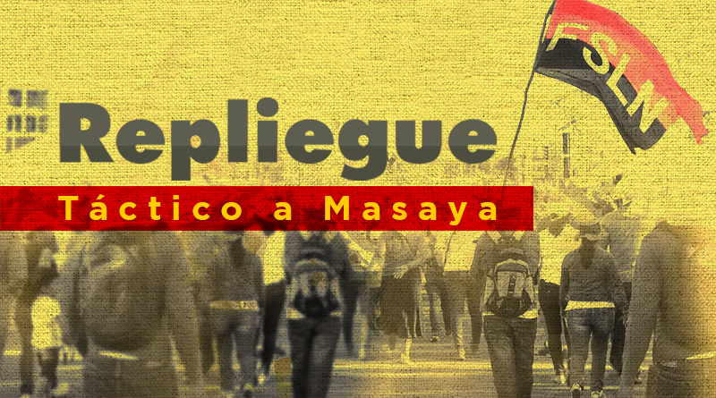¿En que consistía el Repliegue Táctico a Masaya?