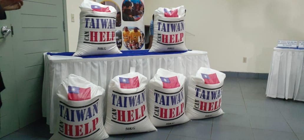 Taiwán dona dos mil 300 toneladas de arroz a Nicaragua