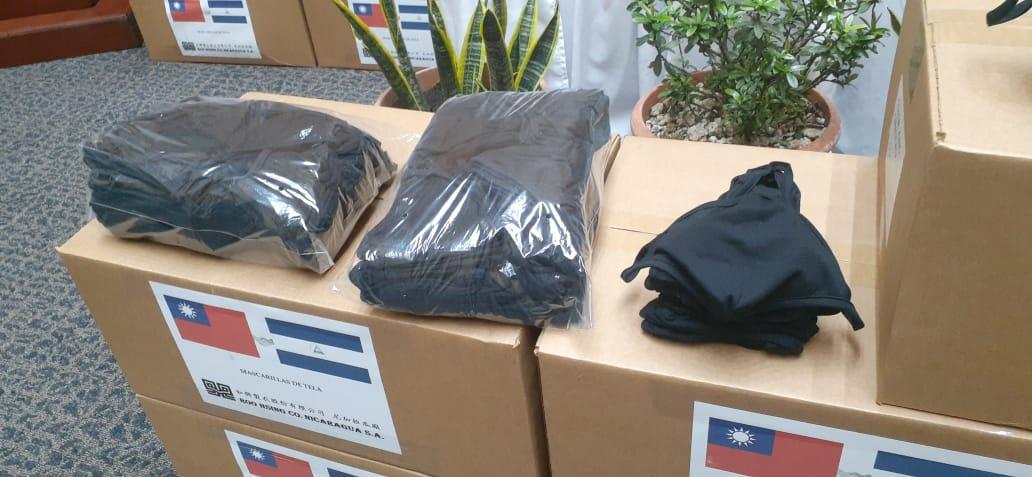 Nicaragua recibe 20 mil mascarillas reutilizables para el sistema publico de salud
