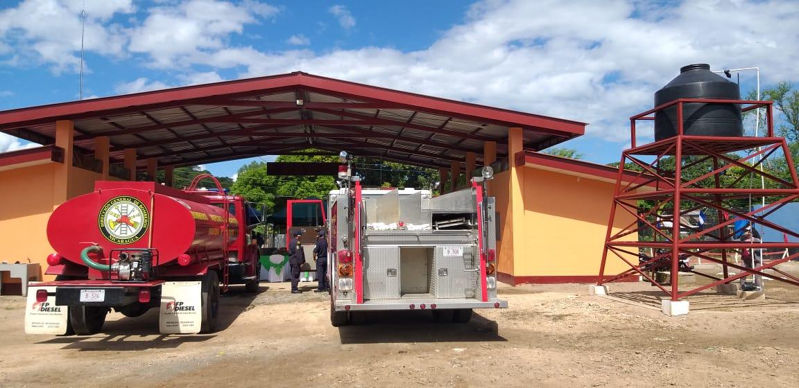 Unidad de bomberos número 92 es inaugurada en el Sauce, León