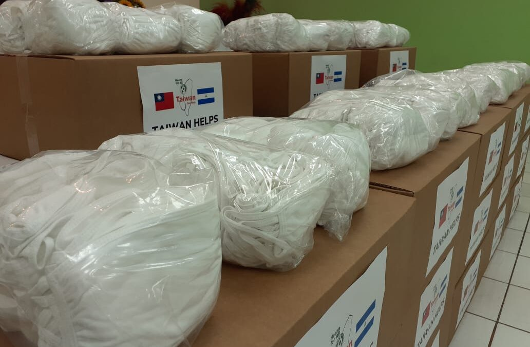 China Taiwán realiza otro donativo de mascarillas a Nicaragua