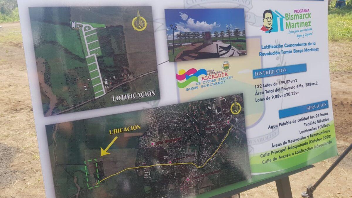 132 familias beneficiadas con lotes Bismarck Martínez en Ciudad Sandino