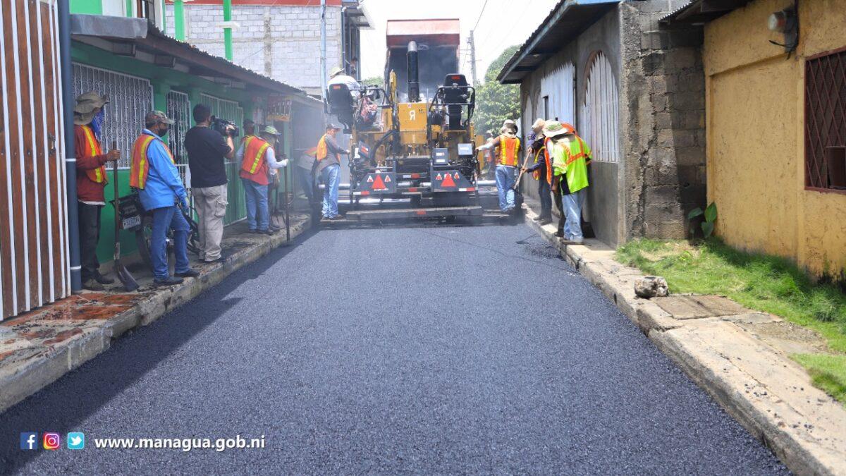 80 barrios de Managua tienen calles nuevas