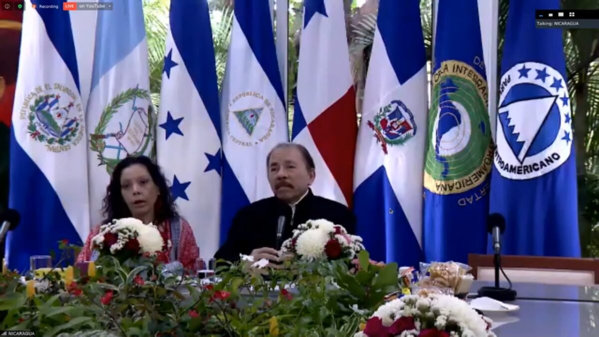 Presidente Ortega participa en conferencia sobre reactivación económica en países del SICA