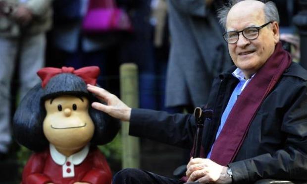 Murió el reconocido dibujante argentino Quino, creador de Mafalda