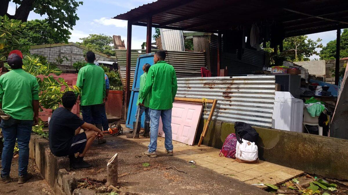 Vientos huracanados en Managua dejaron 108 casas afectadas y tres colapsadas