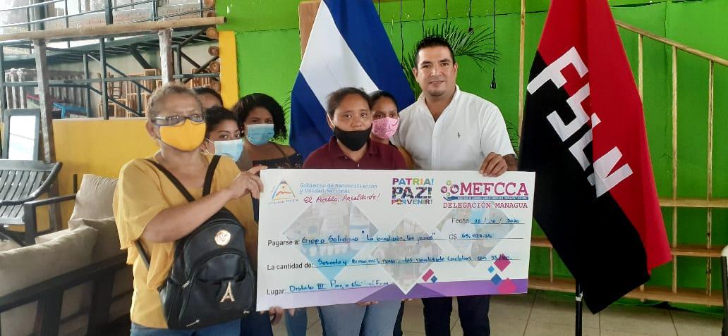 Más de 22 millones de córdobas en capitalización a pequeños negocios de Managua