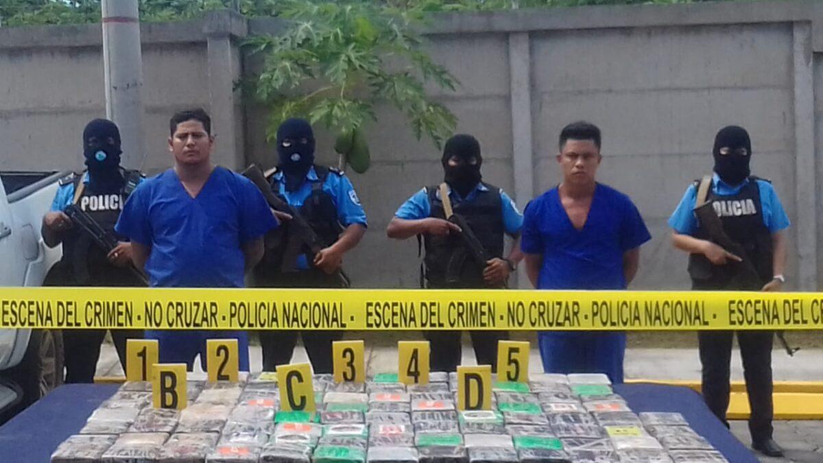 Incautan más de 100 kilos de cocaína en Palacagüina Madriz