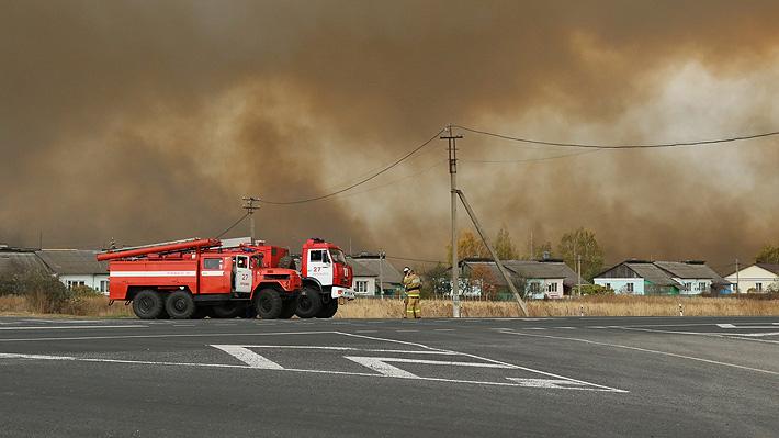Más de 2,000 personas fueron evacuadas tras explotar un deposito de municiones en Rusia