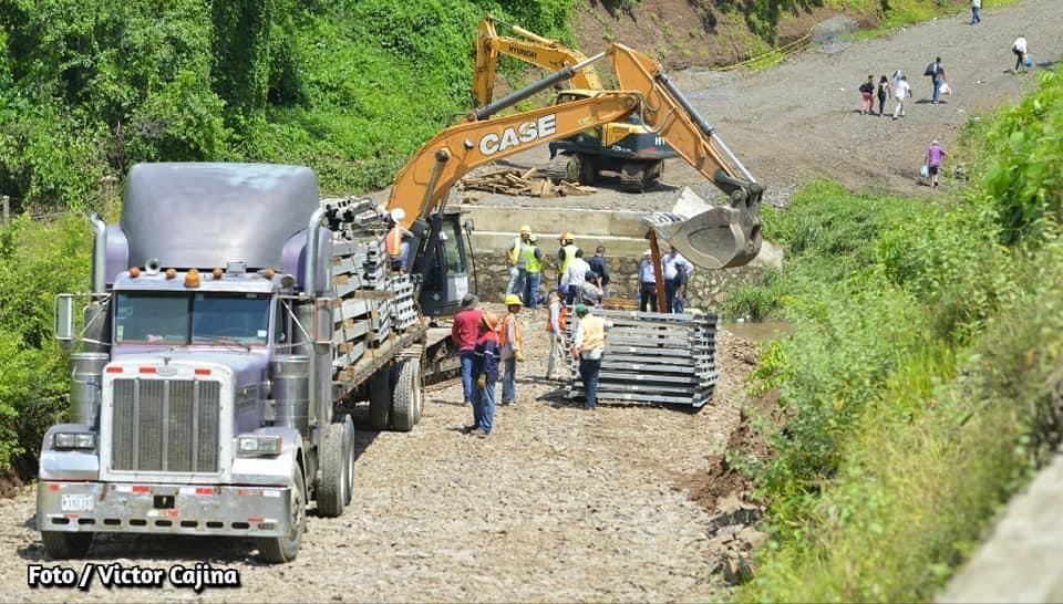 Repuesta inmediata brindó el gobierno de Nicaragua tras colapso del puente Cuizala en Juigalpa
