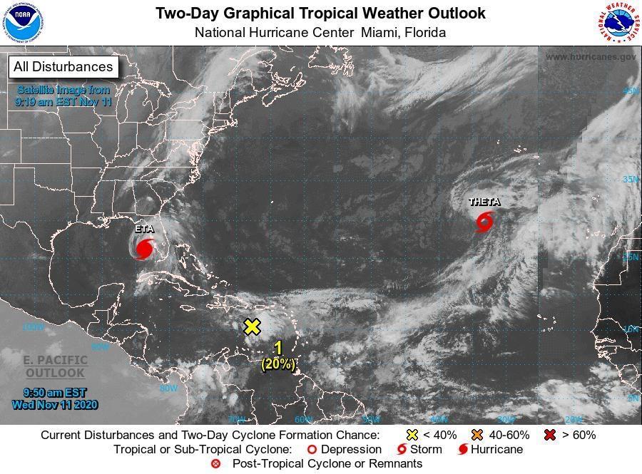 Ineter da seguimiento a Disturbio atmosférico que se encuentra en el Mar Caribe