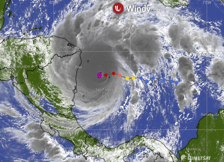 IOTA alcanza la categoría 5 mientras continúa acercándose a Nicaragua