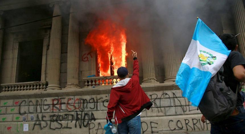 Protestas en Guatemala contra el Gobierno de Giammattei