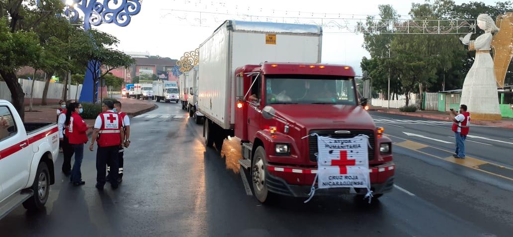 Cruz Roja Nicaragüense envía importante ayuda Humanitaria al Caribe Norte