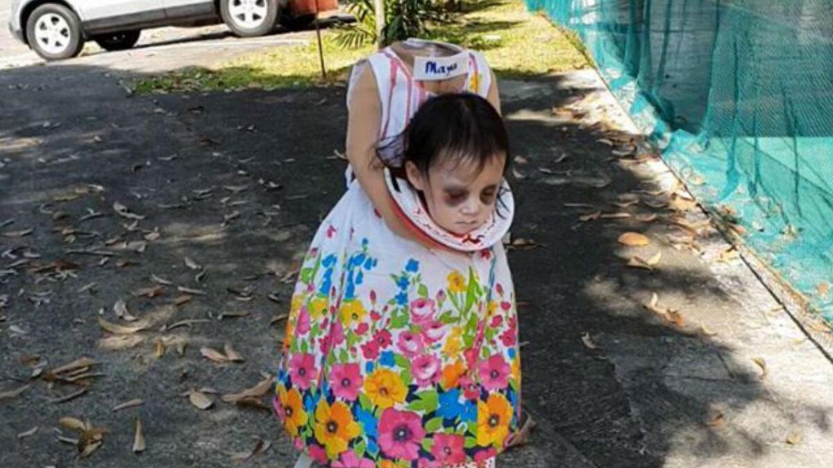 El disfraz de la niña sin cabeza