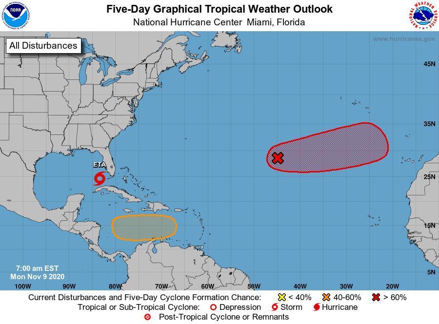 Ineter monitorea disturbio en el Mar Caribe Central