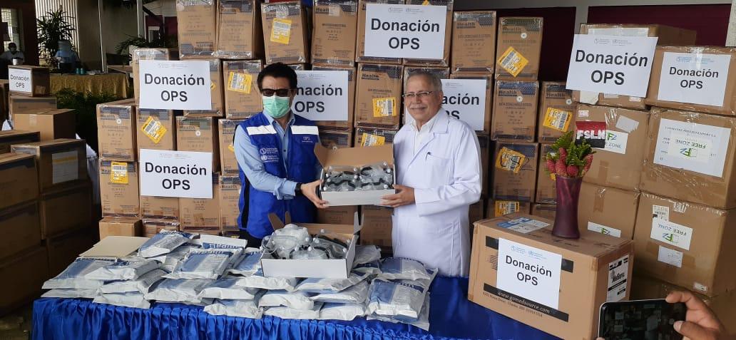 OPS dona equipos de protección personal para fortalecer la atención en el Caribe Norte de Nicaragua