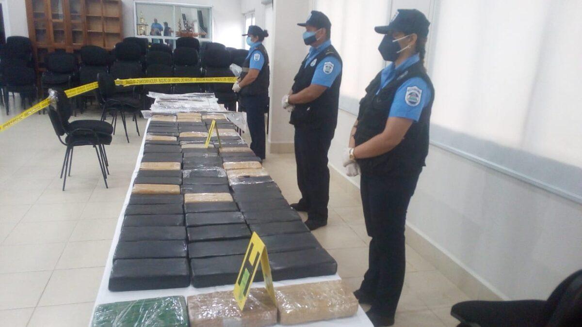 Incautan 83 kilos de cocaína con 524 gramos en los departamentos de Chontales y Chinandega