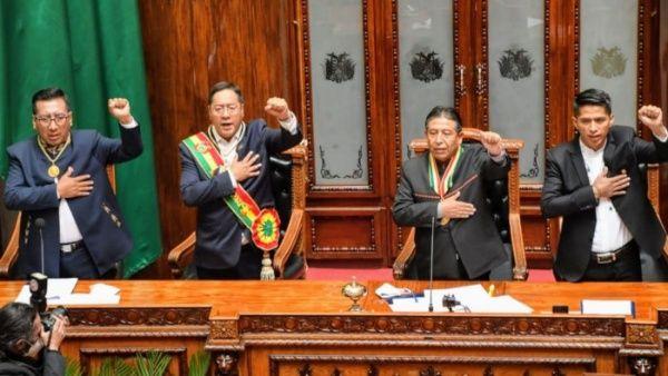 Luis Arce toma posesión como presidente de Bolivia y promete reconstruir el país