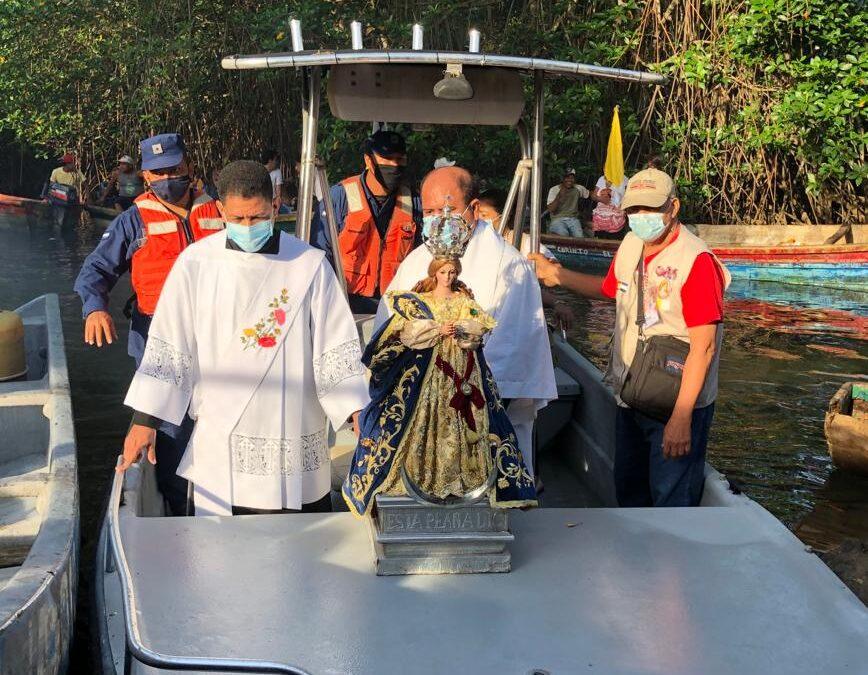 Realizan novena peregrinación acuática en Chinandega