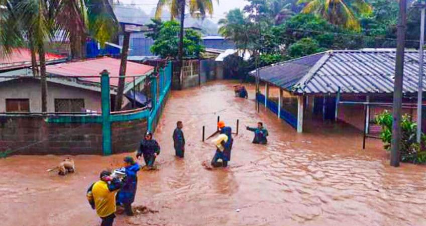 Suelos saturados y ríos crecidos tras paso de Iota en Nicaragua