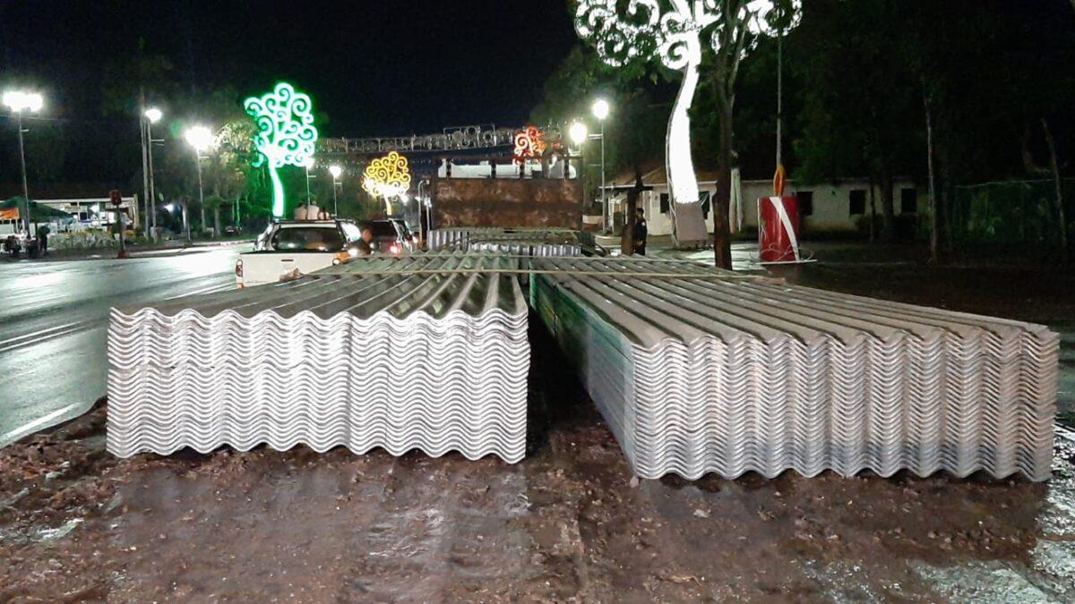 Primer envío de láminas de zinc a familias afectadas por Eta en Bilwi