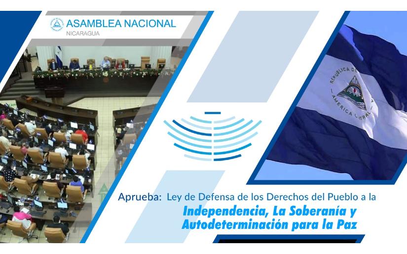 Diputados aprueban Ley de defensa de los derechos del pueblo a la independencia, la soberanía y autodeterminación para la paz.