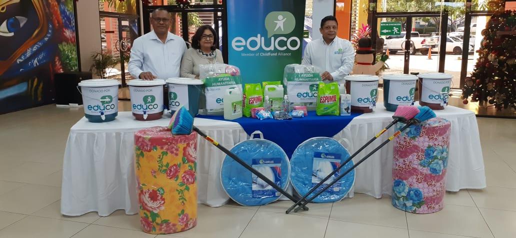 Organismo Educo dona equipos de higiene y saneamiento al Ministerio de Educación