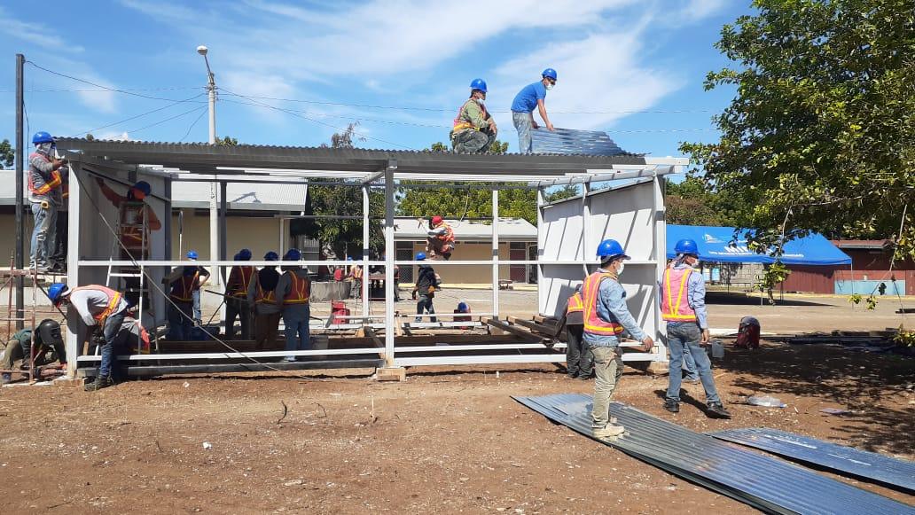 Se instalarán aulas escolares prefabricadas en la Costa Caribe Norte