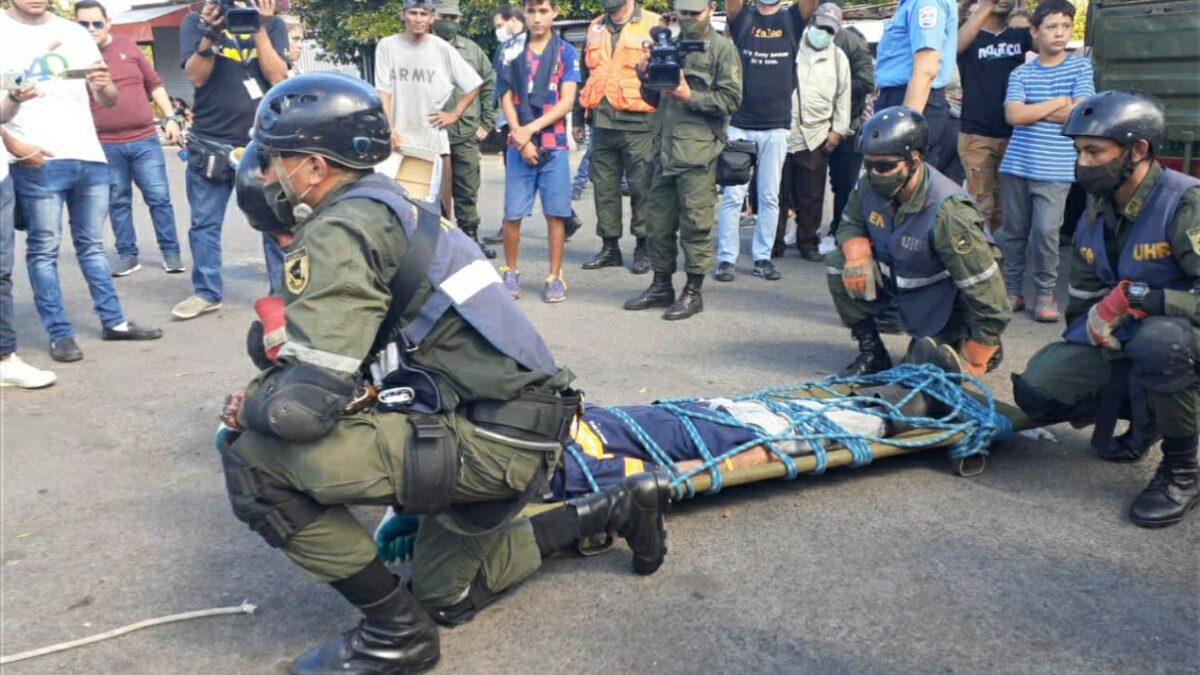 Exitoso ejercicio de protección de la vida en el mercado Roberto Huembes