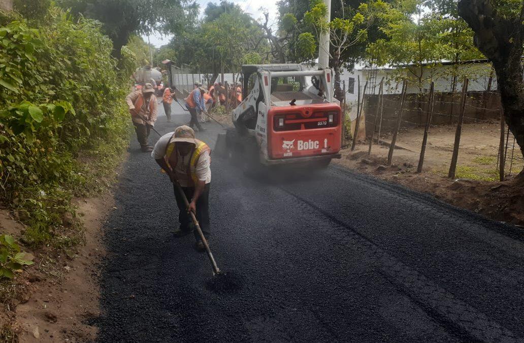 Más calles mejoradas para beneficio de los nicaragüenses
