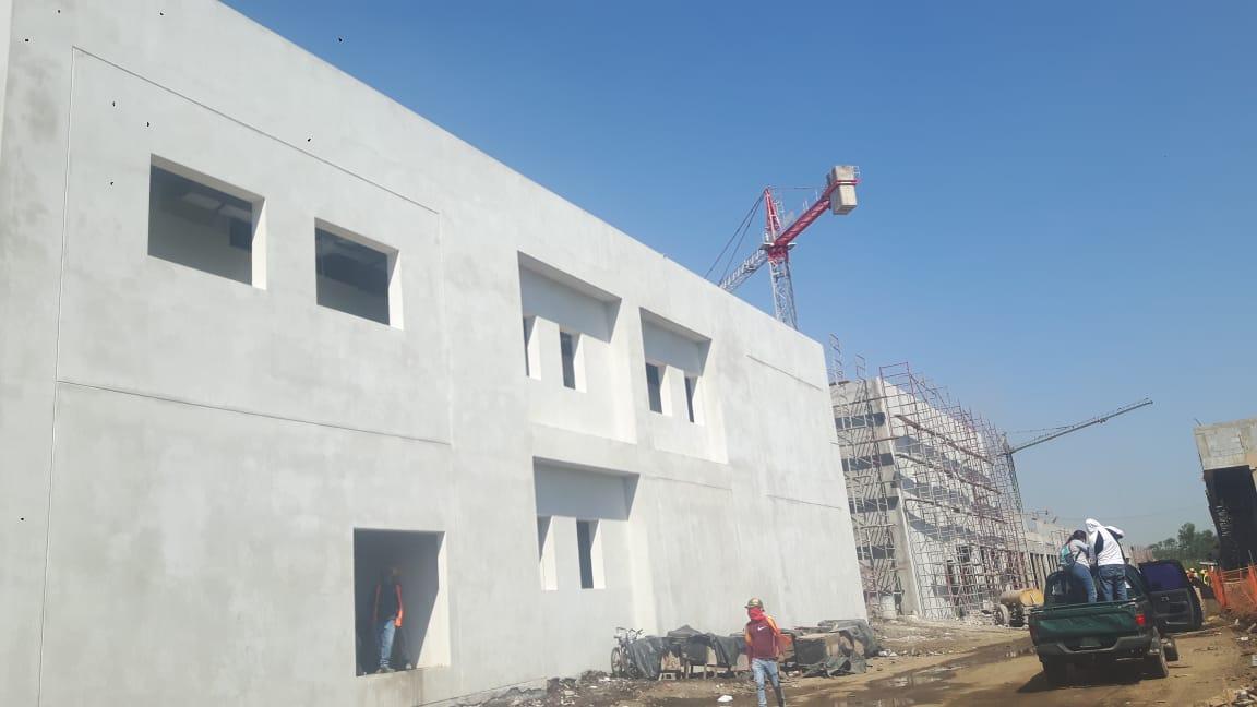 Recorrido en la construcción del hospital departamental de Chinandega