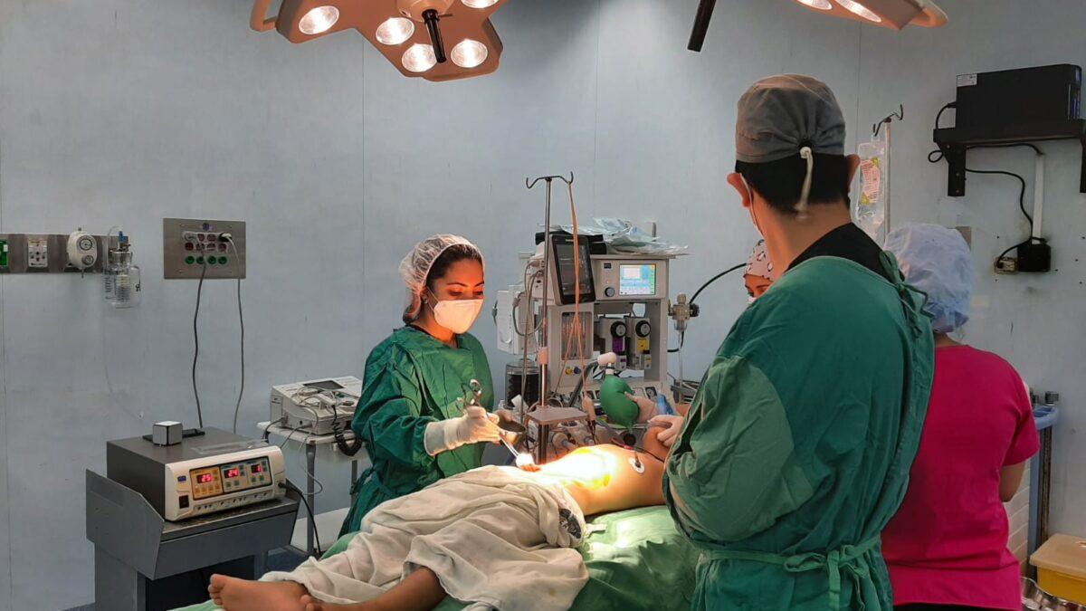 Niños fueron operados durante jornada quirúrgica en el hospital «La Mascota»