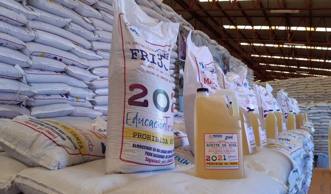 Nicaragua inicia distribución de la Merienda Escolar 2021