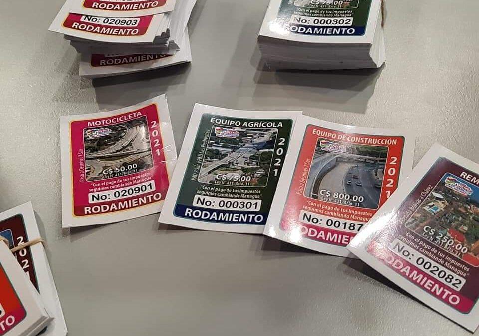 Habilitan más centros para el pago de sticker de rodamiento en Managua
