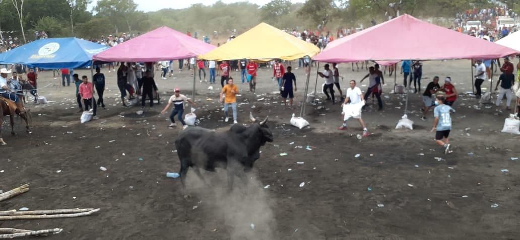 Algarabía total en Tipitapa, con el tope de toros