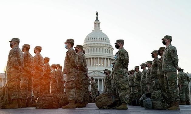 Amplio despliegue militar en toma de posesión de Biden