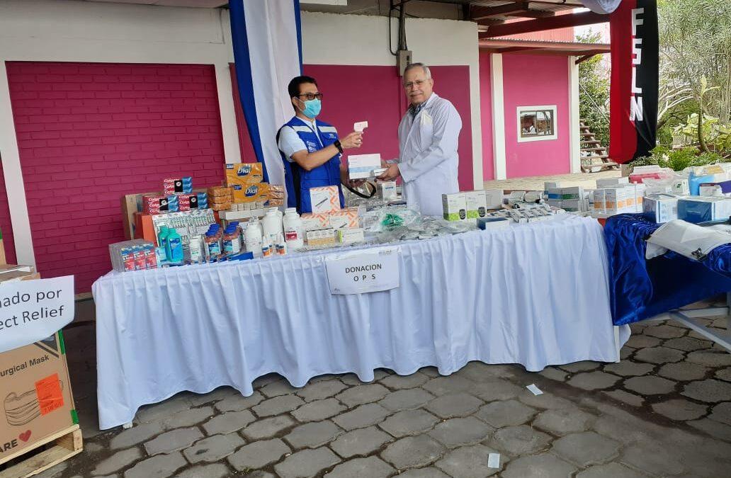 Nicaragua recibe donación de insumos médicos de parte de la OPS
