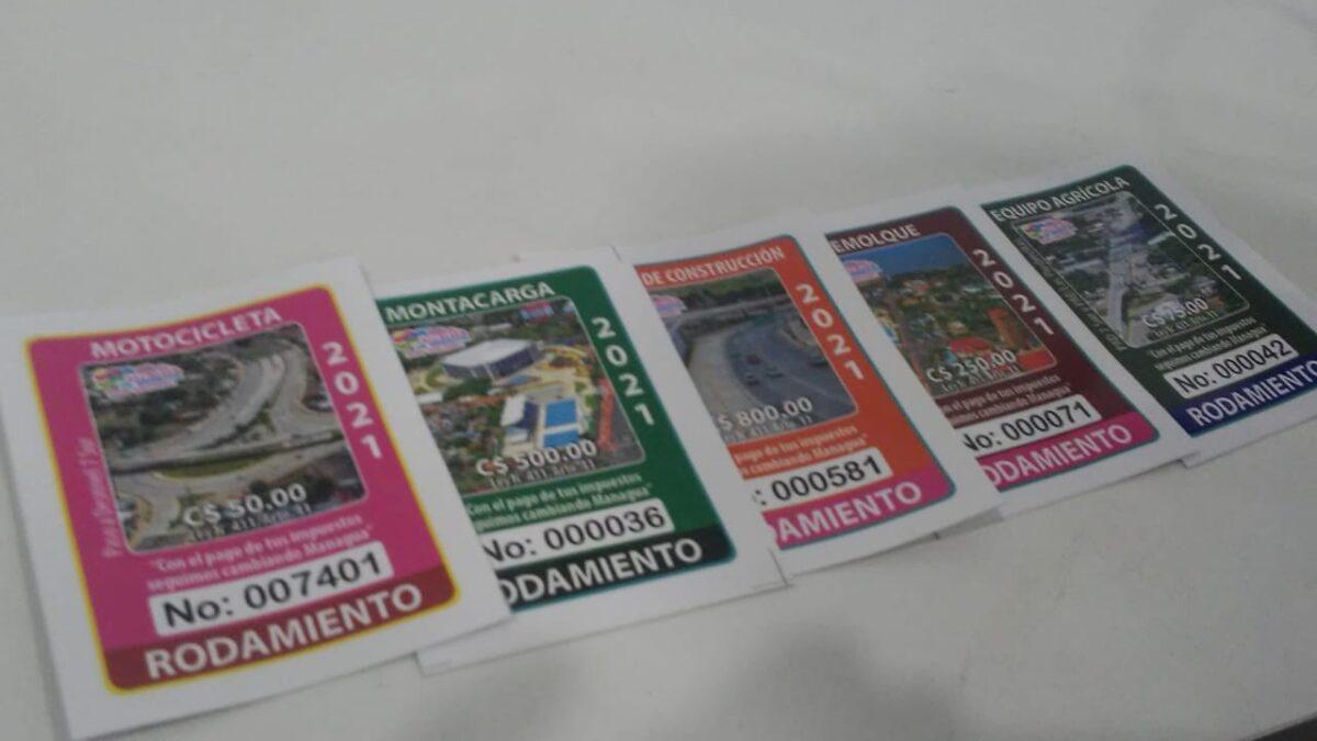 Stickers de rodamiento únicamente son vendidos en centros de atención ciudadana
