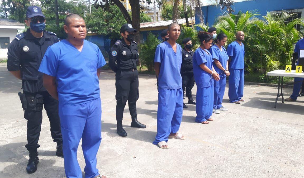 Policía Nacional captura a 12 sujetos en Chinandega, entre ellos dos mujeres
