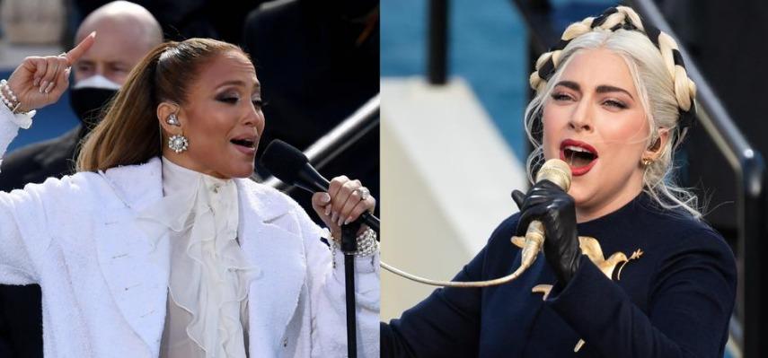 Jennifer López y Lady Gaga se lucieron en presentación de investidura presidencial de EE.UU.