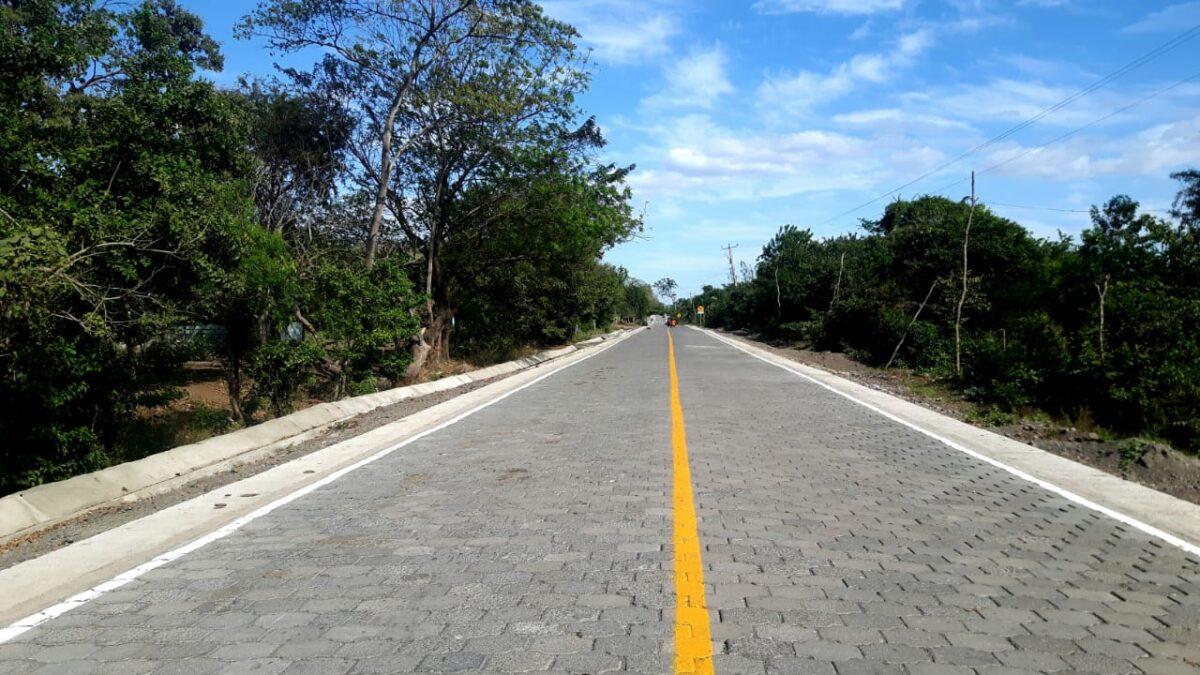 Inauguran tramo de camino adoquinado del empalme Cosigüina – Mechapa
