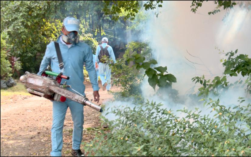 Brigadistas de salud recorren barrio Benedicto Valverde contra mosquitos