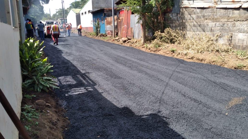 Mejoran 10 cuadras del barrio Pantasma en Managua