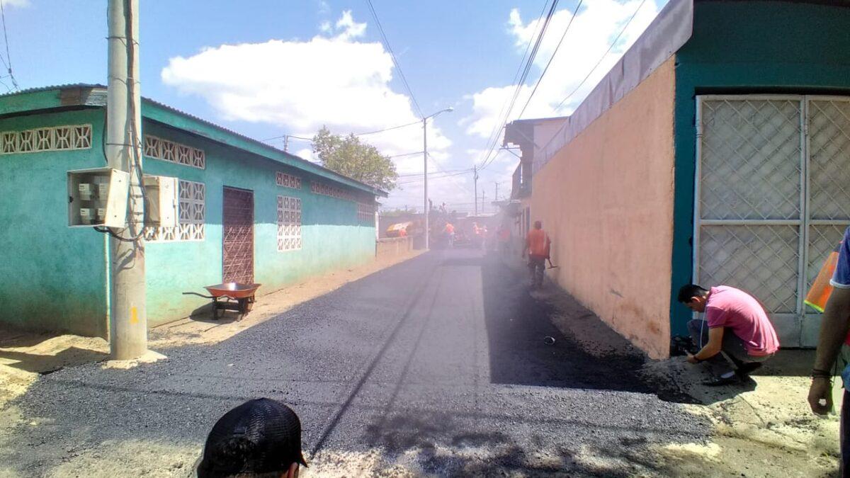 Realizan mejoramiento vial en barrio José Benito del distrito VI de Managua