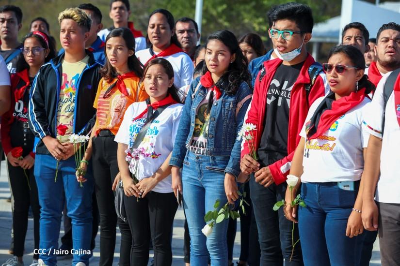 Nicaragüenses conmemoran el 87 aniversario del asesinato del General Sandino