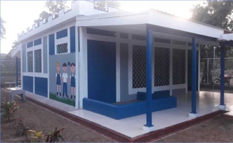 Continúa reconstrucción de escuelas en el caribe nicaragüense