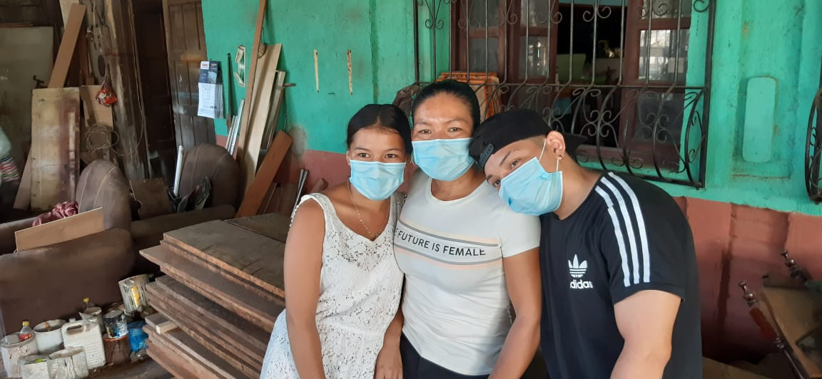 Madre soltera y carpintera en Managua