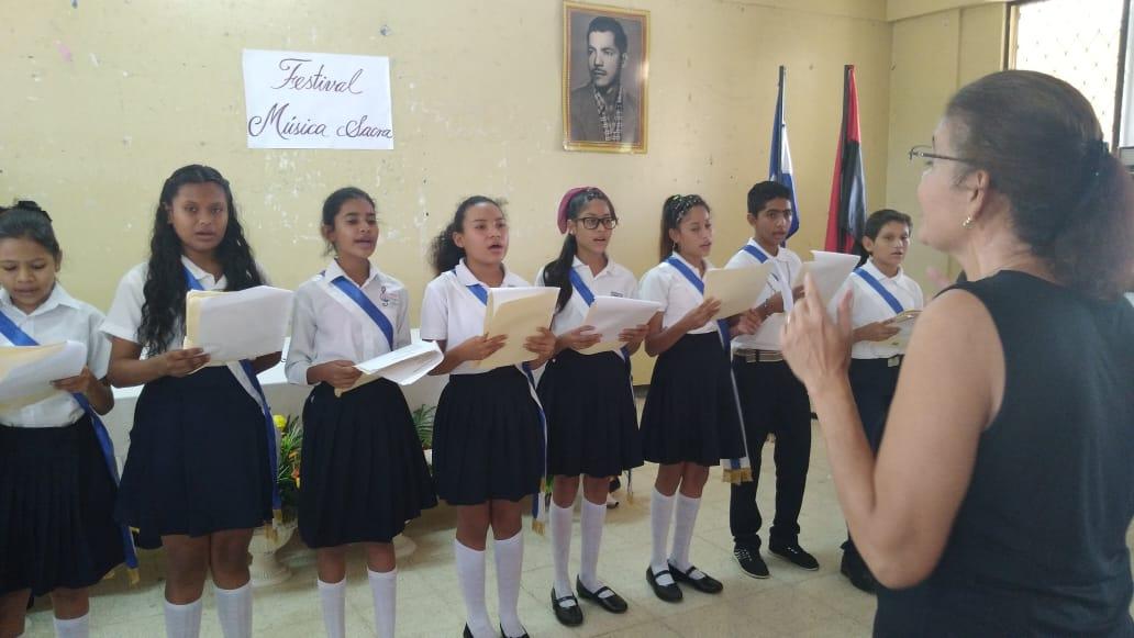 Coros estudiantiles Rubén Darío del Mined participan en festivales de música sacra