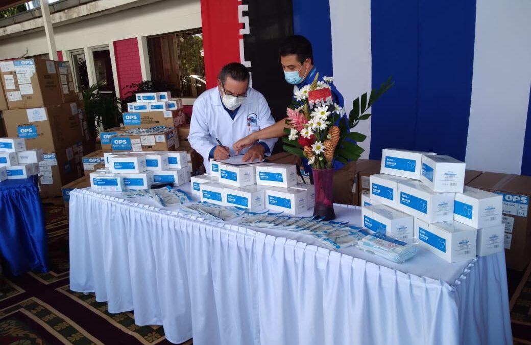 Personal de salud más protegidos con la nueva donación de mascarilla quirúrgicas de OPS/OMS
